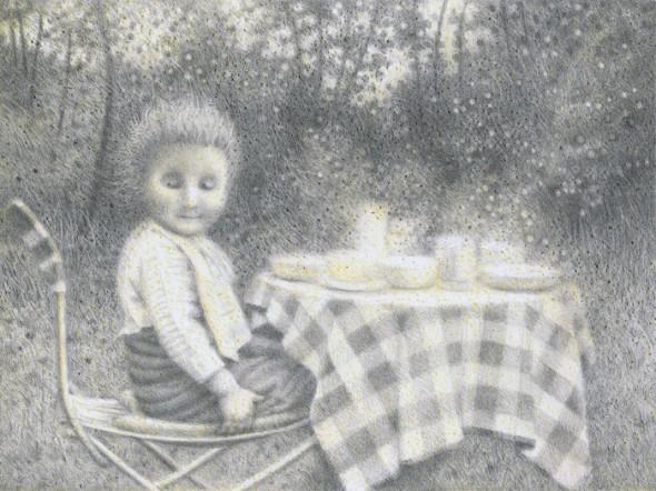 Picnic (1), Buntstift auf Papier, 17,5 cm x 23,4 cm, 2010